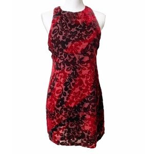 Somedays Lovin Dress M Crushed Velvet Mini Blood